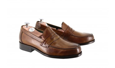 LARVOTTO LOAFER CHESTNUT BROWN