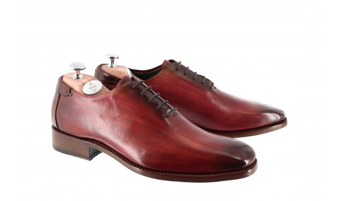 CHAUSSURE PATINEE MONTE CARLO ROUGE CARDINAL - Bout lisse