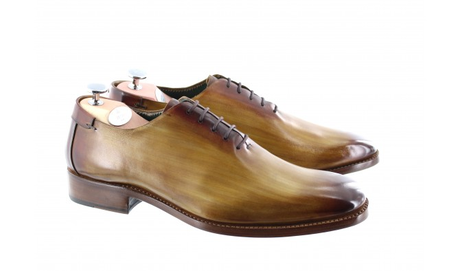 CHAUSSURE PATINEE MONTE CARLO MARRON GOLD - Bout lisse