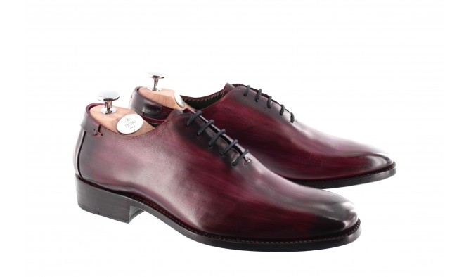 CHAUSSURE PATINEE MONTE CARLO PRUNE - Bout lisse