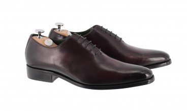 MONACO OXFORD SHOES HANDSMOKED RED