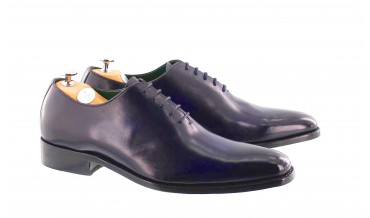 MONACO OXFORD SHOES HANDSMOKED BLUE