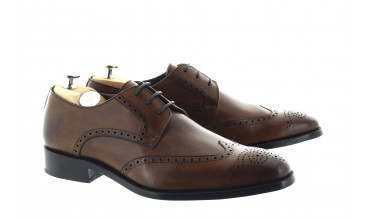 NOTARI DERBY SHOES CHESTNUT BROWN