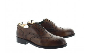 CASTELANS OXFORD SHOES CHESTNUT BROWN
