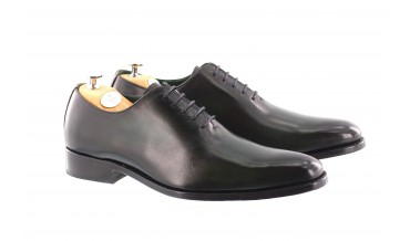 MONACO OXFORD SHOES HANDSMOKED GREEN
